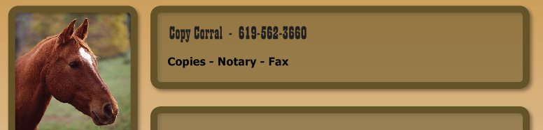 Copy Corral  -  619-562-3660 - Copies - Notary - Fax